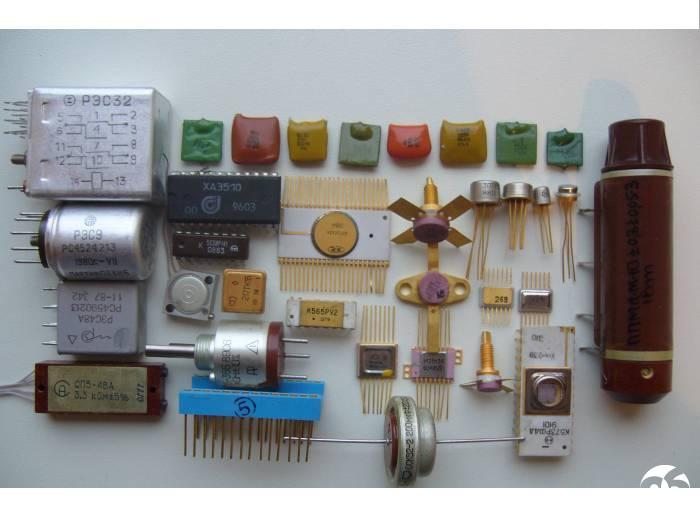 Ценные радиодетали содержащие драгметаллы фото